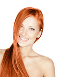 Woman with beauty long red hair Stock Photography