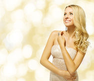 Woman beauty portrait, beutiful girl smiling Royalty Free Stock Photos