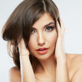Woman beauty portrait. Royalty Free Stock Photography