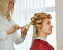 Woman in beauty salon Stock Photo