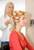 Woman in beauty salon Stock Photos