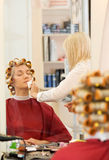 Woman in beauty salon Royalty Free Stock Photography