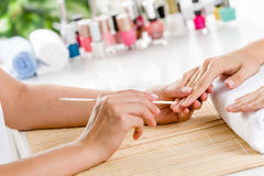 Woman at beauty salon Royalty Free Stock Photo