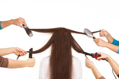 Woman in a beauty salon. Royalty Free Stock Image