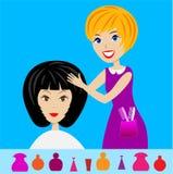 Woman in a beauty salon does a hair-do Royalty Free Stock Photos