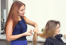 Woman in a beauty salon Royalty Free Stock Photos