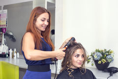 Woman in a beauty salon Stock Photography