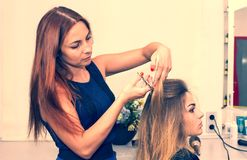 Woman in a beauty salon Royalty Free Stock Photo