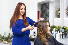 Woman in a beauty salon Stock Images