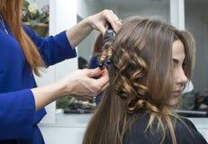 Woman in a beauty salon Stock Photo