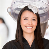 Woman in a beauty salon Stock Photo