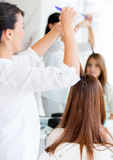 Woman at the beauty salon Stock Photos