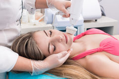 Woman in beauty salon royalty free stock images