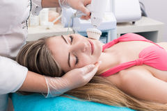 Woman in beauty salon Stock Photography