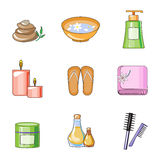 Woman in a Beauty and Spa Salon stock illustration