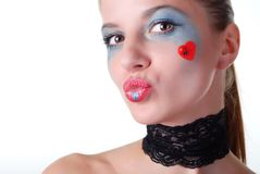 Woman with beauty spot Royalty Free Stock Photo