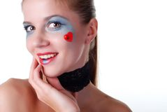 Woman with beauty spot Royalty Free Stock Photography
