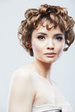 Woman beauty style close up face portrait Royalty Free Stock Image