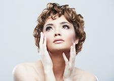 Woman beauty style close up face portrait Stock Images