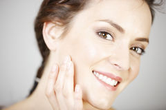 Woman in beauty style pose Stock Images