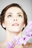 Woman in beauty style pose Royalty Free Stock Image