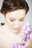 Woman in beauty style pose Royalty Free Stock Photography