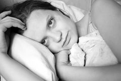 Woman in bed Royalty Free Stock Images