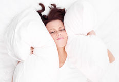Woman in bed Royalty Free Stock Photos