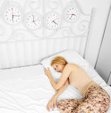 Woman in the bed Royalty Free Stock Photos