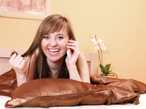 Woman in the bed Royalty Free Stock Photography