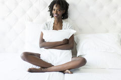 Woman on the bed Royalty Free Stock Photography