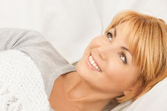 Woman in bed Royalty Free Stock Image