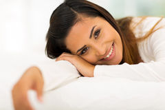Woman in bed Royalty Free Stock Photo