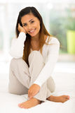 Woman bed morning Stock Image