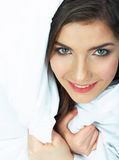 Woman bed portrait. Stock Photography