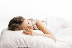 Woman on the bed Stock Images