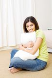 Woman in bedroom Royalty Free Stock Images