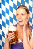 Woman with beer Stock Photos