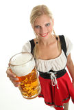Woman with beer mug Stock Photography