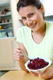 Woman with beets. Yong woman with fresh beets Stock Images
