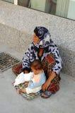Woman beggar asking for money in Kusadasi, Turkey Royalty Free Stock Image