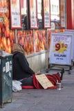 Woman beggar Stockholm Royalty Free Stock Image