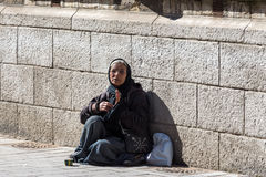 Woman beggar Royalty Free Stock Photography