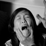 Woman being abused domestic violence crying Royalty Free Stock Images