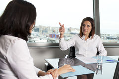 Woman being fired Royalty Free Stock Images