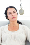 Woman being hypnotized Stock Image