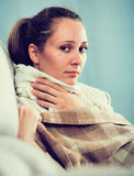 Woman being ill Stock Photos