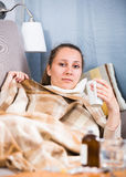 Woman being ill Royalty Free Stock Image
