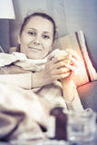 Woman being ill Royalty Free Stock Images