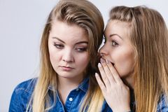 Woman being sad her friend comforting her Royalty Free Stock Photo